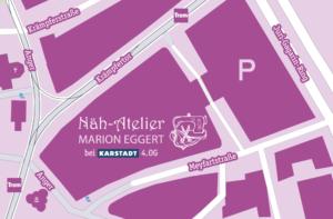 Karte mit Ortsangabe, Änderungsschneiderei Anger 1, 99084 Erfurt bei Karstadt 4.OG